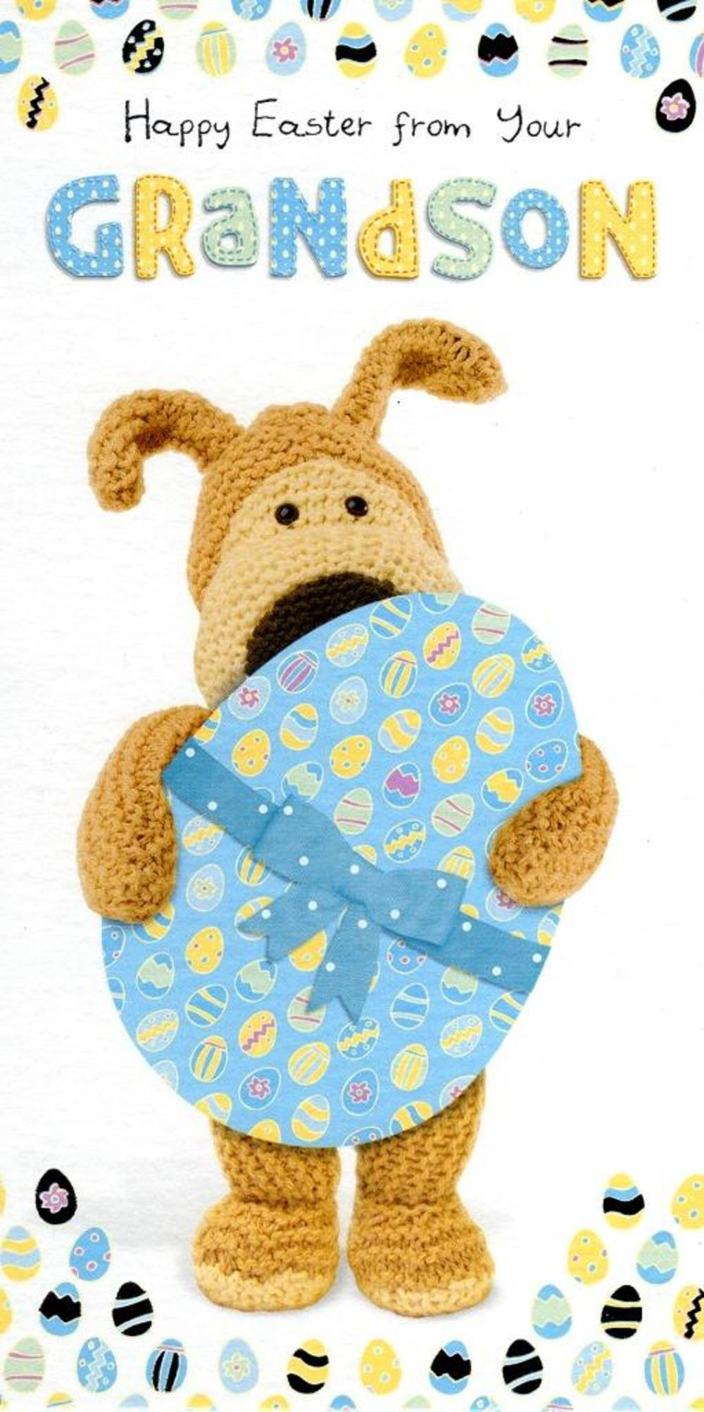 Boofle Grandson Happy Easter Greeting Card