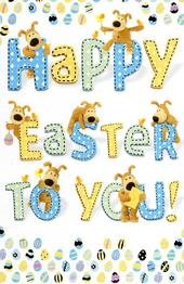 Boofle Happy Easter To You Greeting Card