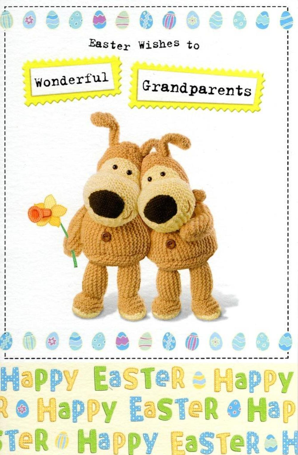 Boofle Grandparents Happy Easter Greeting Card