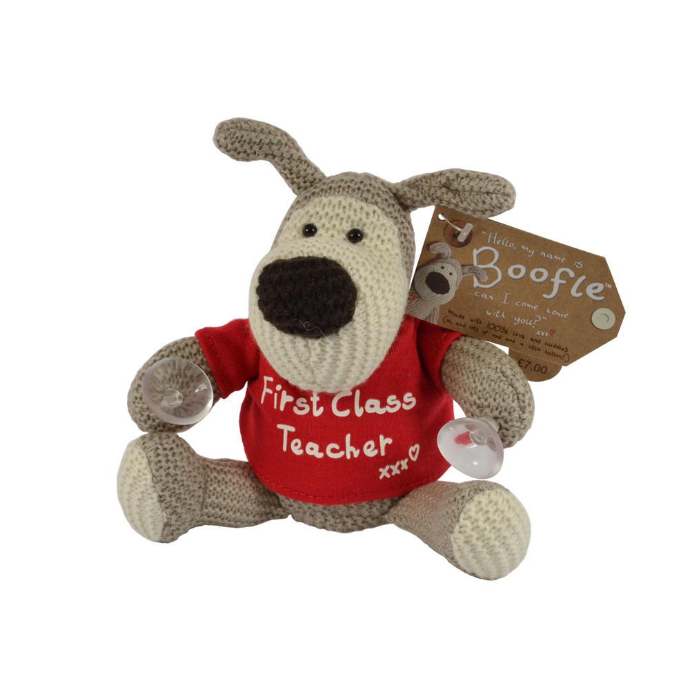 "Boofle First Class Teacher 7"" Boofle Toy With Suction Pads"