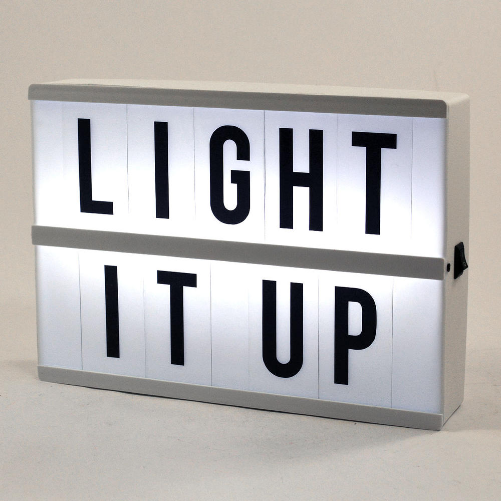 Retro Cinematic Light Box With Letters, Numbers # & @
