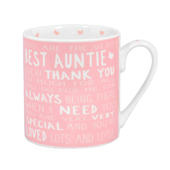 Best Auntie Messages Of Love Mug New Gift Range