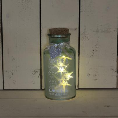 Special Auntie Light Up Jar Messages Of Love Gift Range