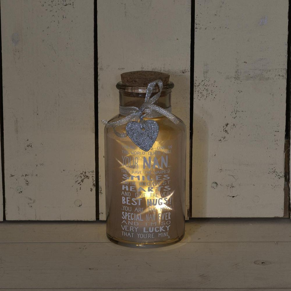 Special Nan Light Up Jar Messages Of Love Gift Range