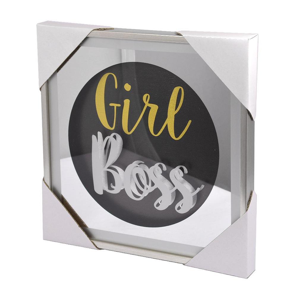Girl Boss Silver Frame Classy & Fabulous Range Wall Art