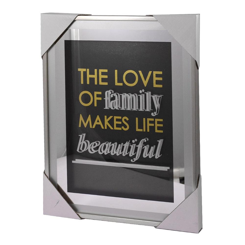 Family Makes Life Beautiful Silver Frame Classy & Fabulous Range