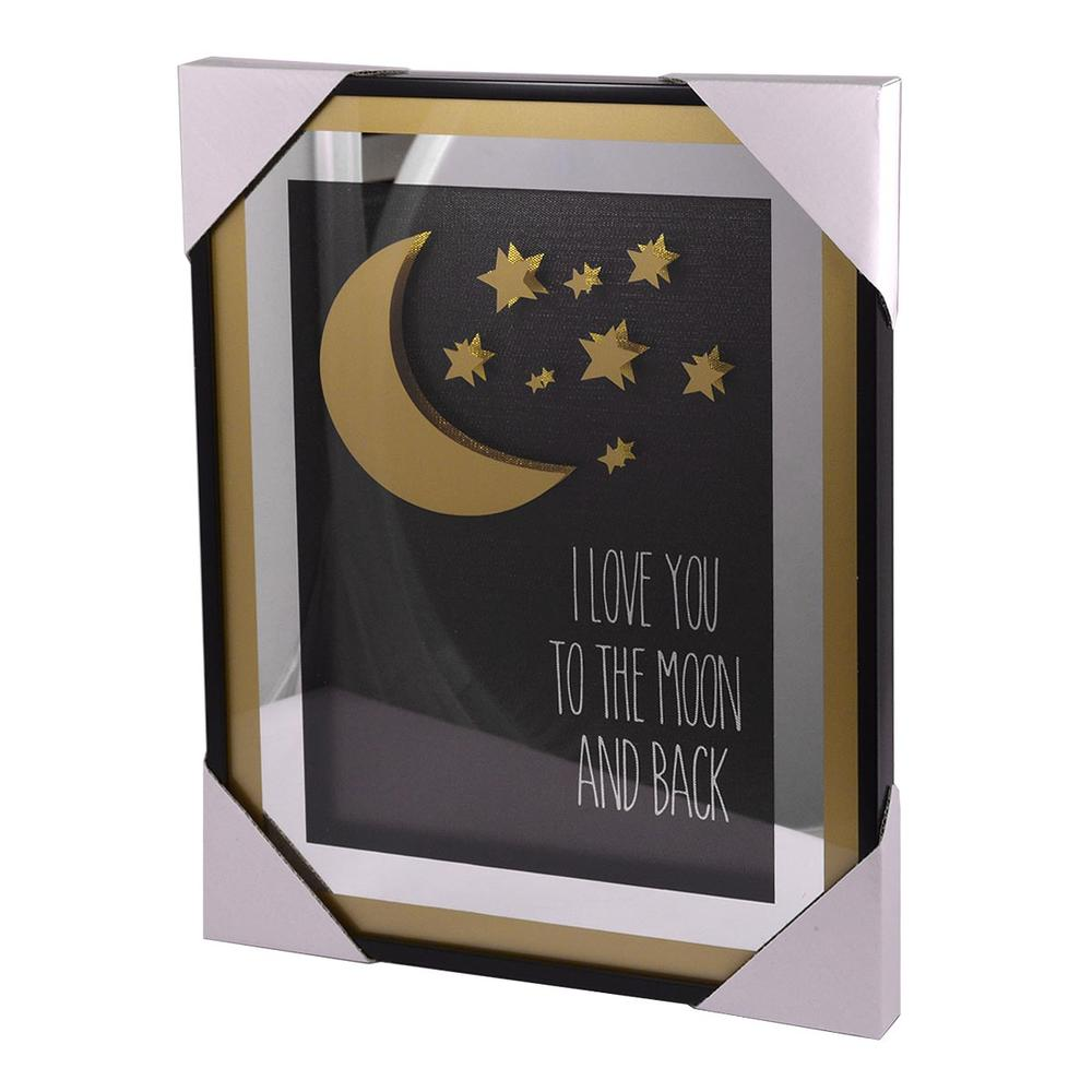 I Love You To The Moon & Back Gold Frame Classy & Fabulous Range