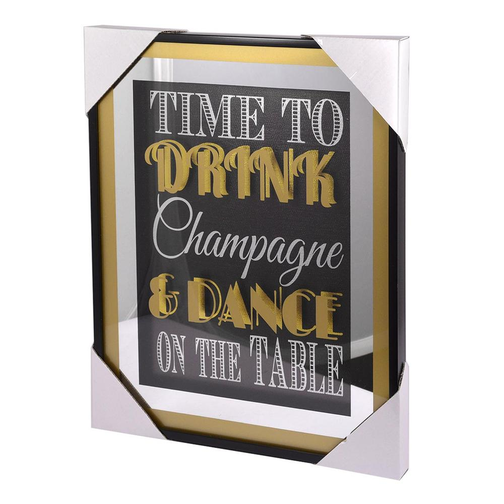 Time To Drink Champagne Gold Frame Classy & Fabulous Range