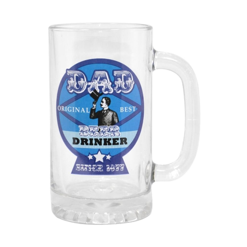 Dad Best Beer Drinker Glass Stein Tankard & Gift Box