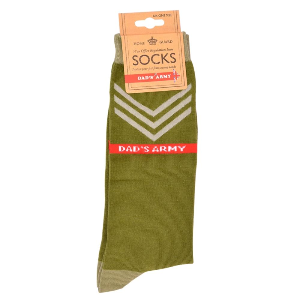 Dad's Army Green Sergeant Socks One Size
