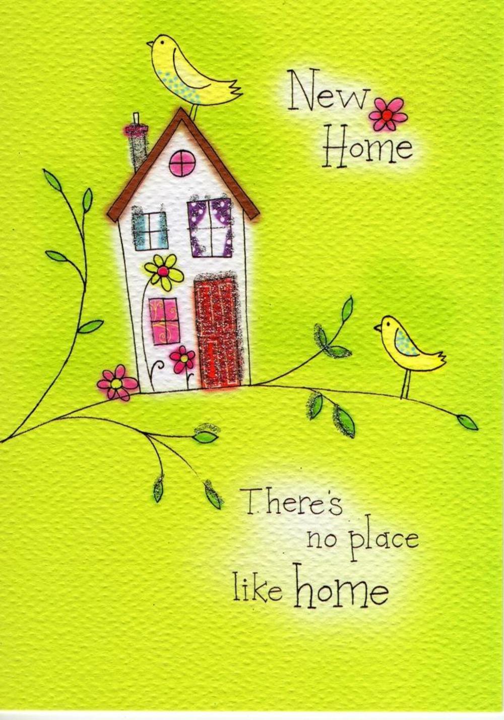 New Home Glitter Flittered Greeting Card