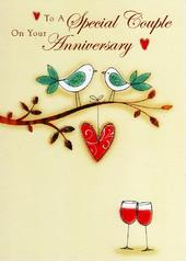 Special Couple Anniversary Glitter Flittered Greeting Card