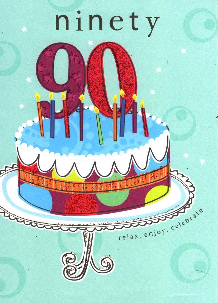 Details About Happy 90th Birthday Glitter Flittered Greeting Card Second Nature Cards