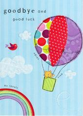 Goodbye & Good Luck Glitter Flittered Greeting Card