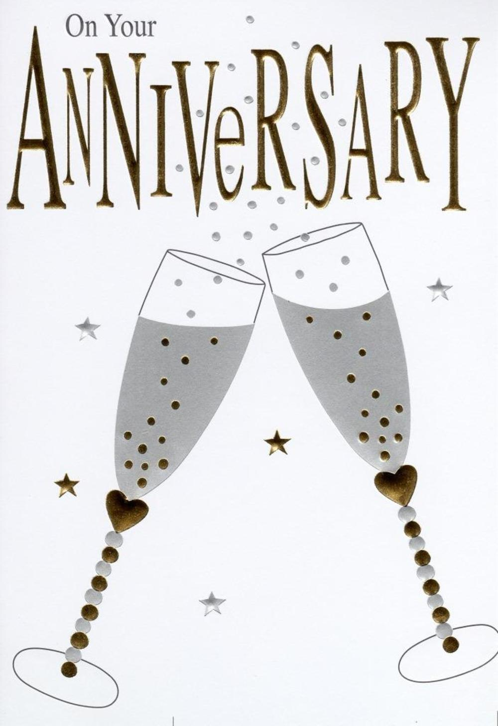 On Your Anniversary Foiled Greeting Card