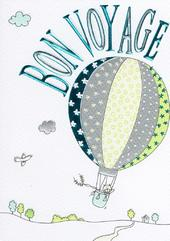 Bon Voyage Lovely Foiled Greeting Card