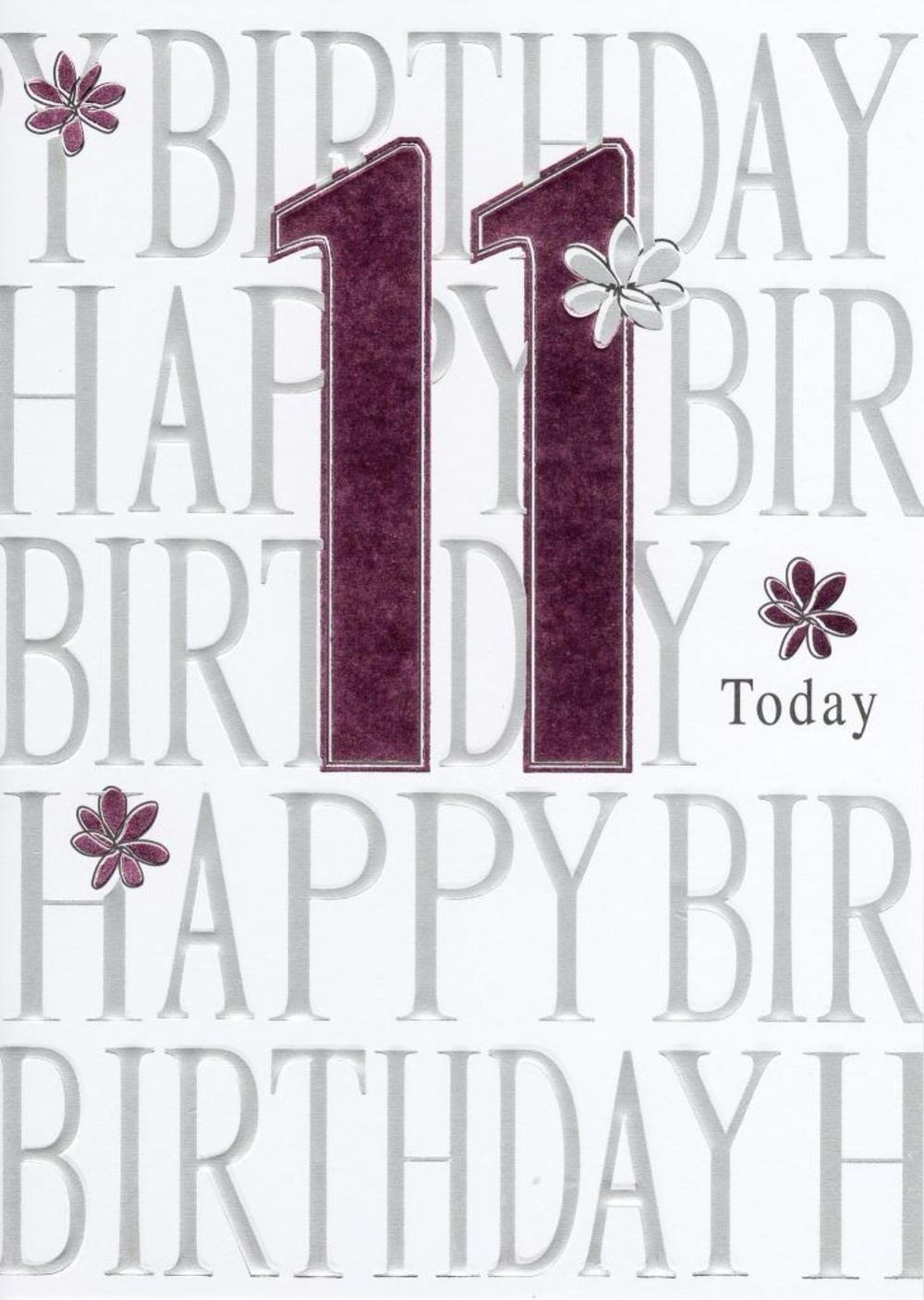 Happy 11th Birthday Foiled Greeting Card Cards – 11th Birthday Cards