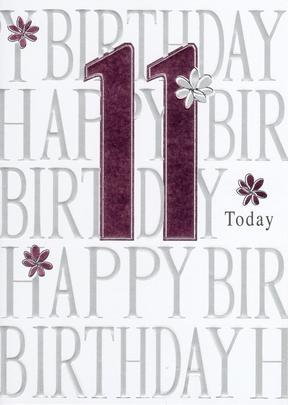 Happy 11th Birthday Foiled Greeting Card