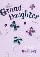 Special Granddaughter Birthday Foiled Greeting Card