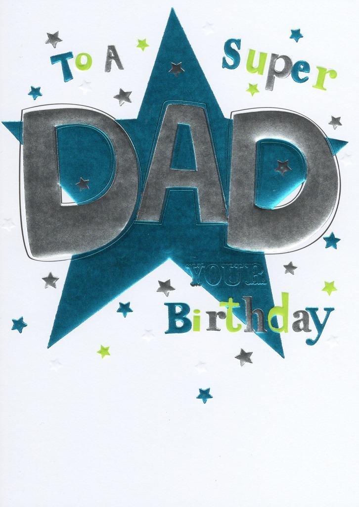 Super Dad Birthday Foiled Greeting Card Cards Love Kates