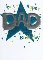 Super Dad Birthday Foiled Greeting Card