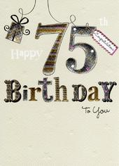 Happy 75th Birthday Foiled Greeting Card