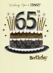 Happy 65th Birthday Foiled Greeting Card