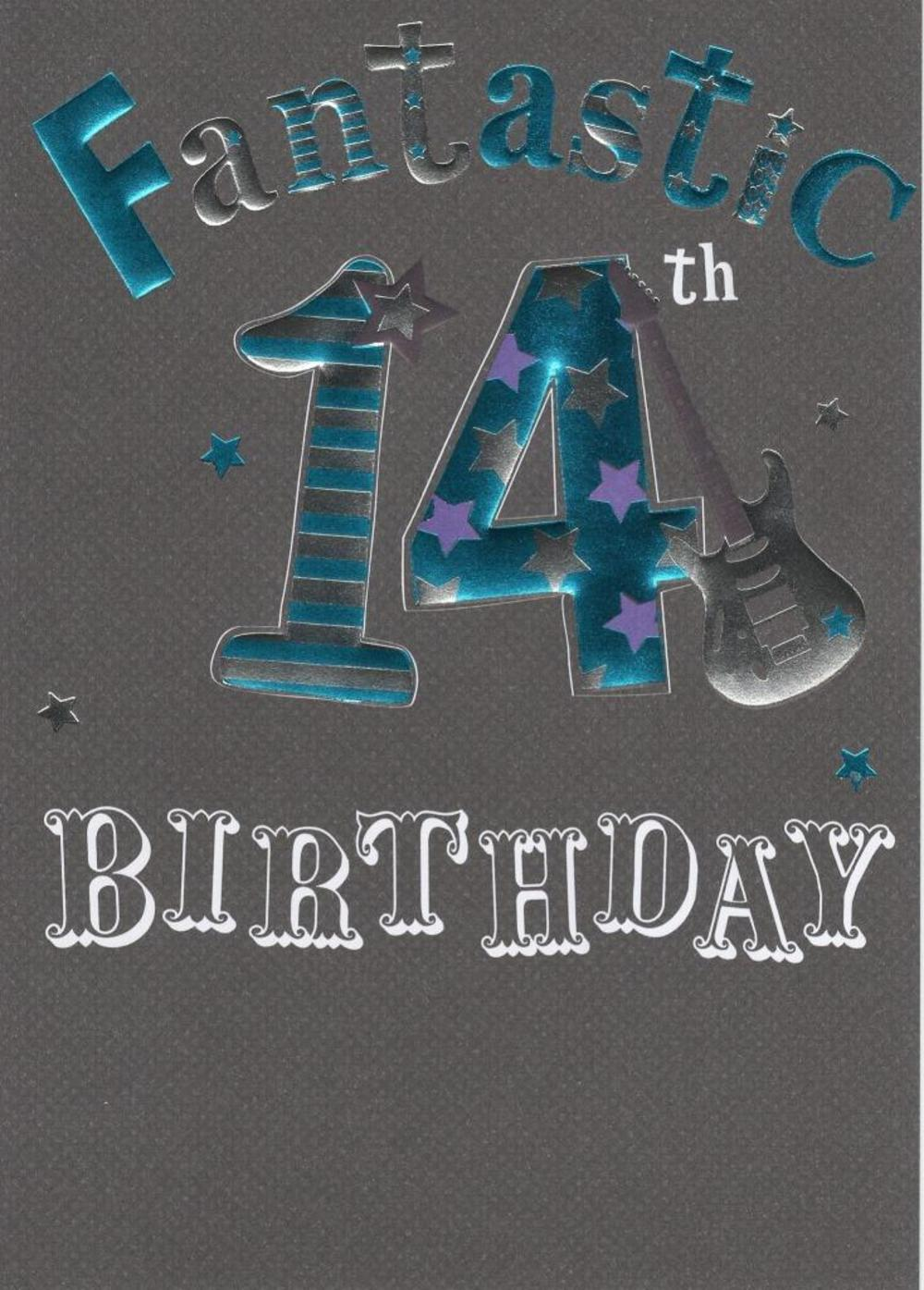 Happy 14th Birthday Foiled Greeting Card