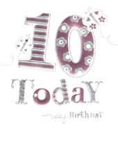 Happy 10th Birthday Foiled Greeting Card