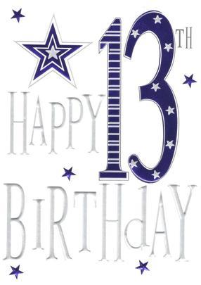 Happy 13th Birthday Foiled Greeting Card