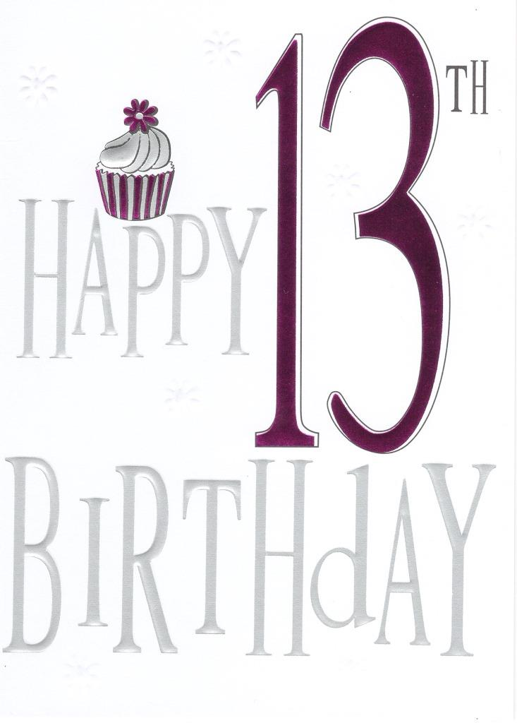 Happy 13th Birthday Foiled Greeting Card Cards