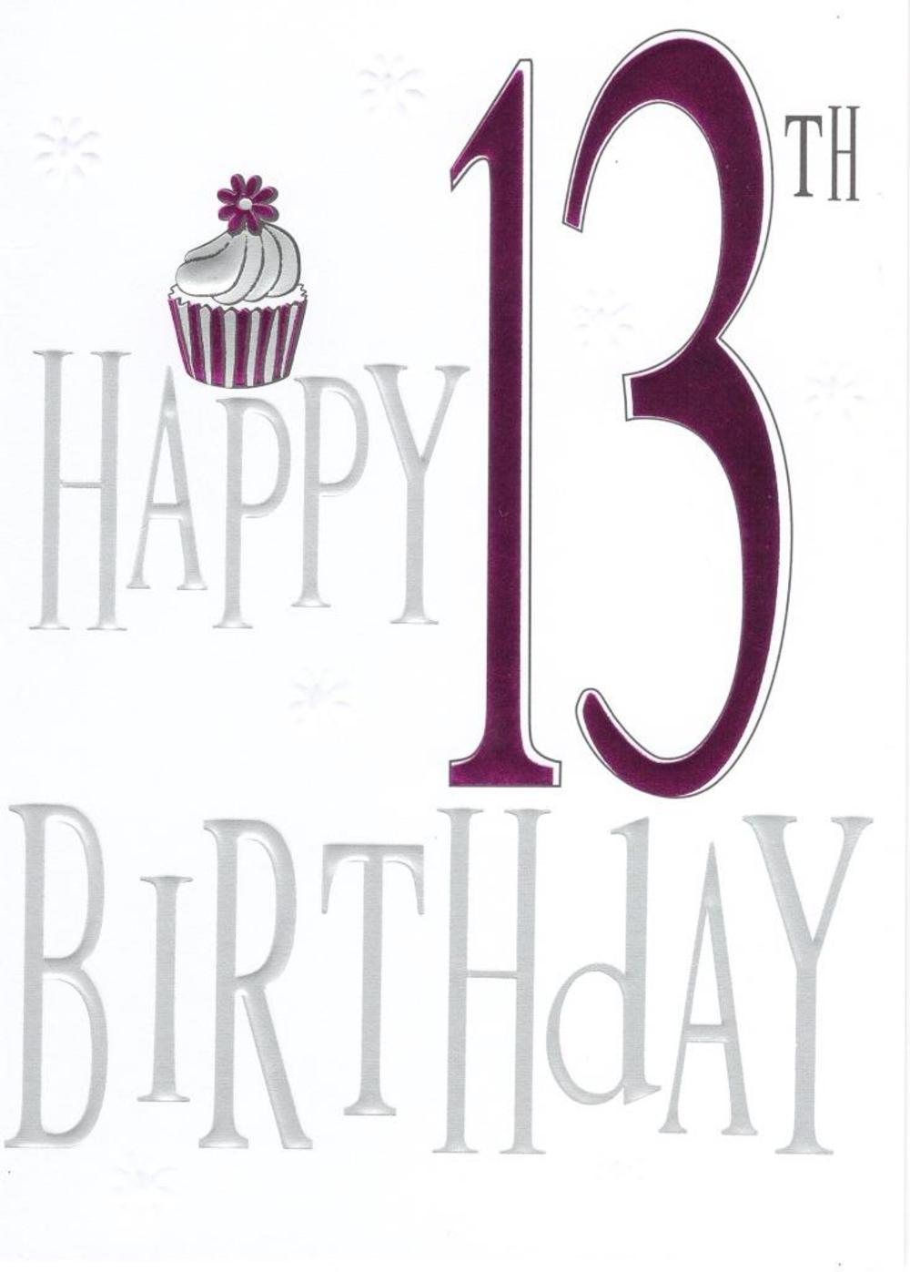Happy 13th Birthday Foiled Greeting Card