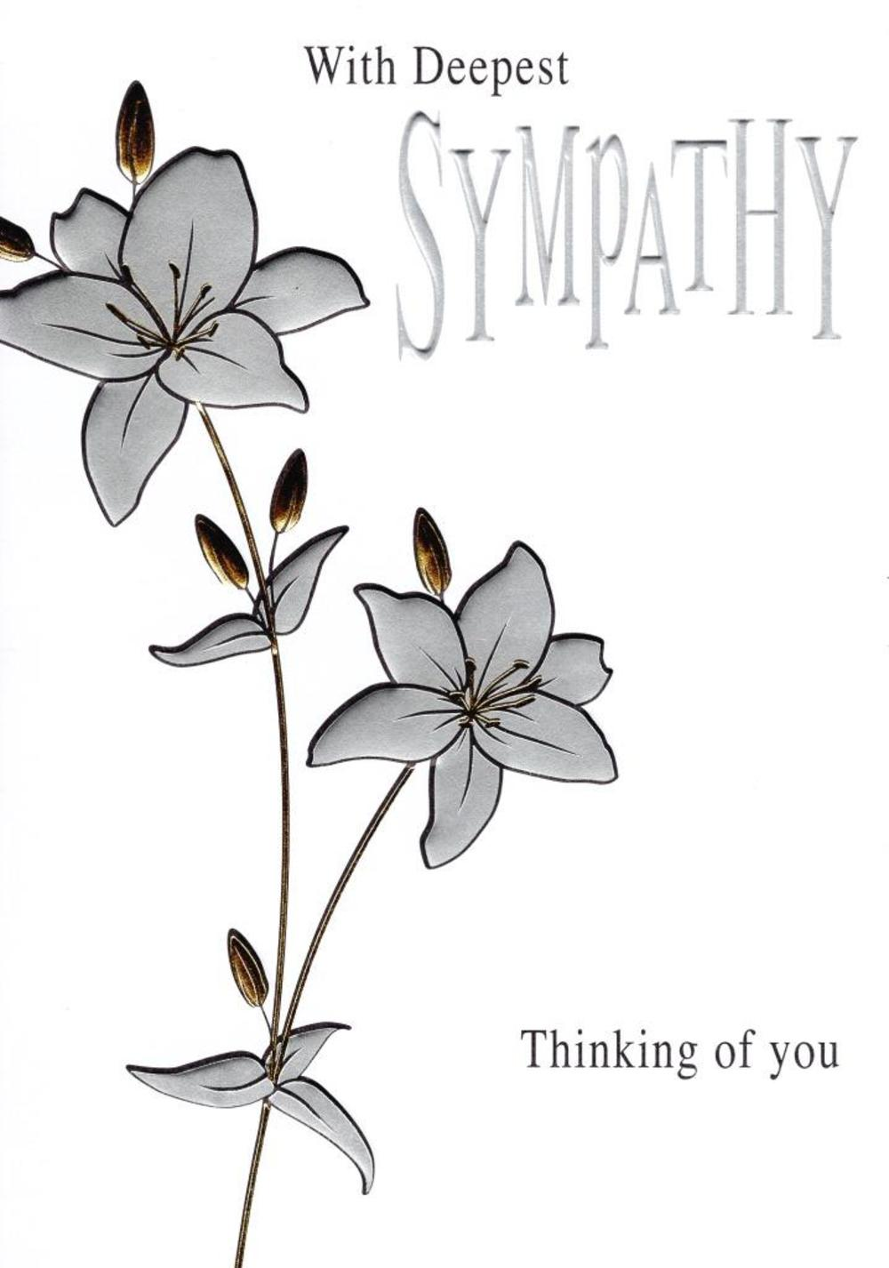 With Deepest Sympathy Foiled Greeting Card