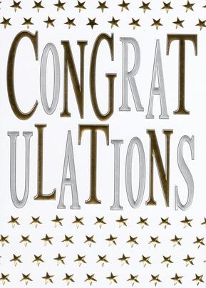 Congratulations Foiled Greeting Card