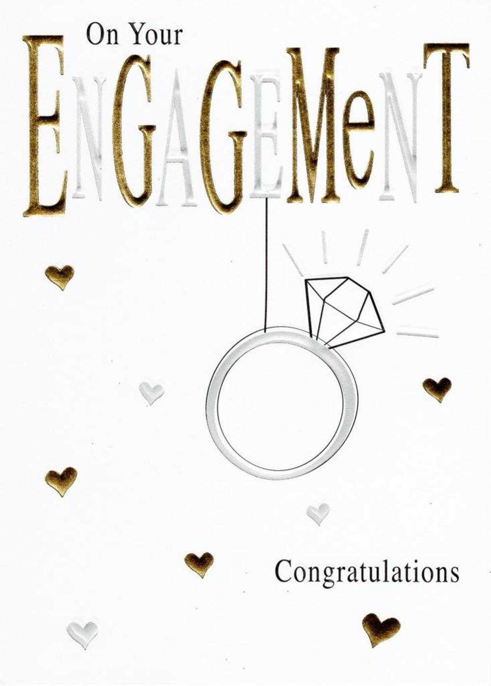 On Your Engagement Foiled Greeting Card