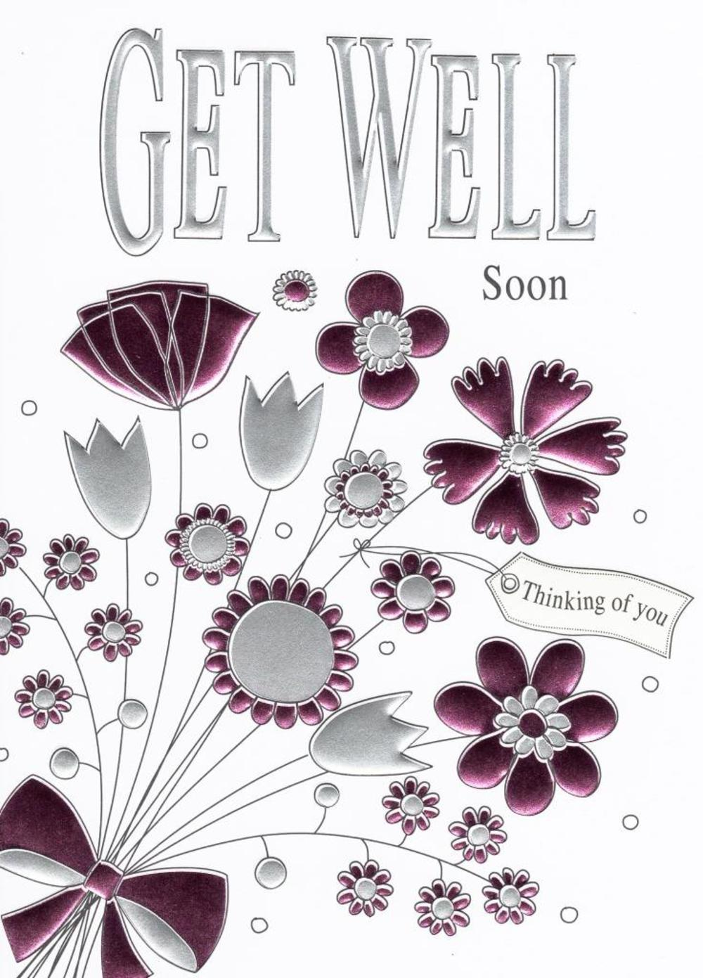 Get Well Soon Foiled Greeting Card