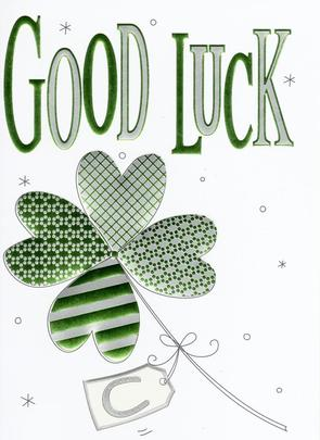 Good Luck Foiled Greeting Card