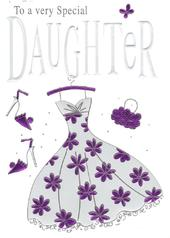 Special Daughter Birthday Foiled Greeting Card