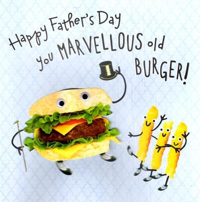 You Marvellous Old Burger Father's Day Card