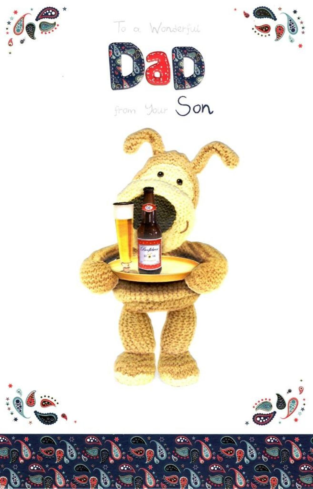 Boofle To Dad From Son Happy Father's Day Card