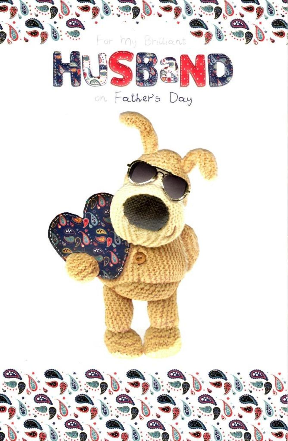 Boofle Brilliant Husband Happy Father's Day Card