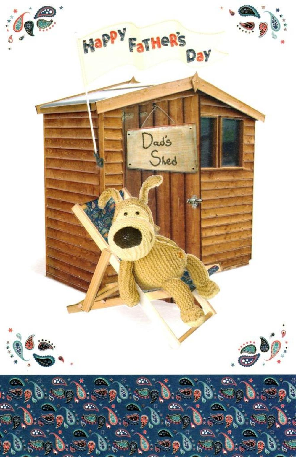 Boofle Dad's Shed Happy Father's Day Card