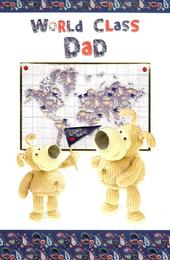 Boofle World Class Dad Happy Father's Day Card