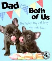 Dad From Both Of Us Father's Day Card