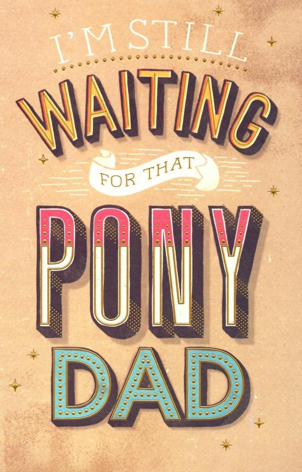 Still Waiting For A Pony Dad Father's Day Card