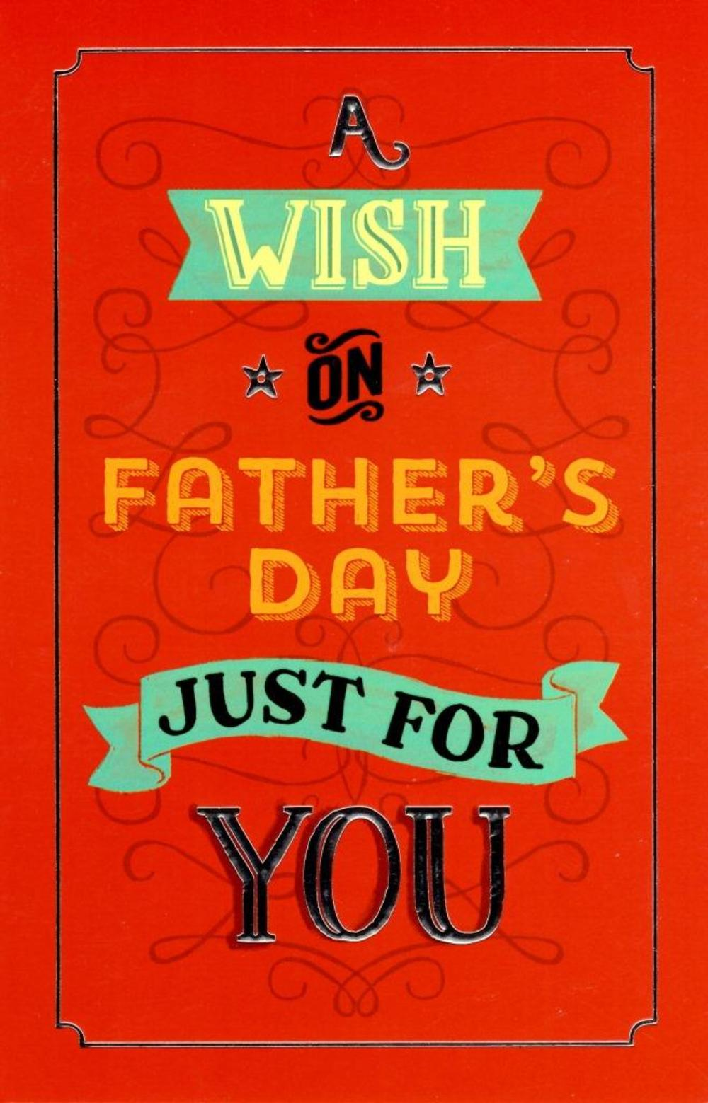 A Wish On Father's Day Card