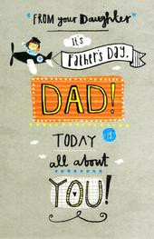 Dad From Your Daughter Happy Father's Day Card