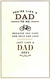 You're Like A Dad To Me Father's Day Card