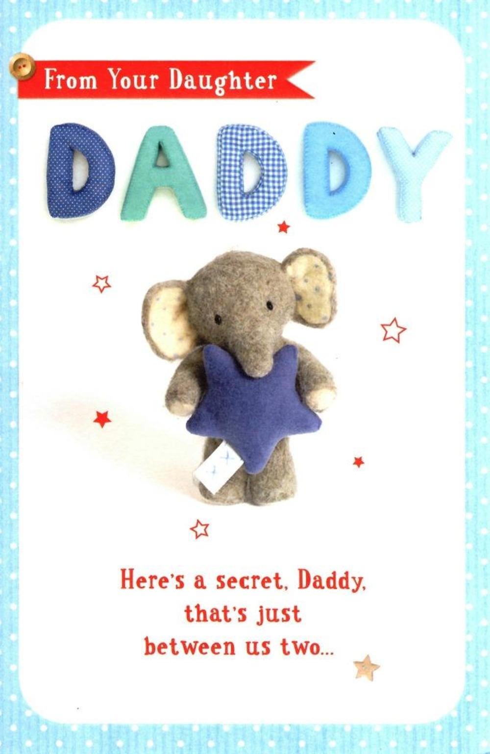 From Daughter Daddy Elliot & Buttons Father's Day Card