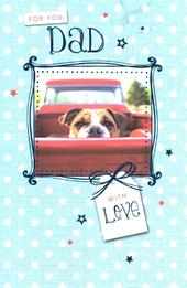 For You Dad Cute Dog Father's Day Card